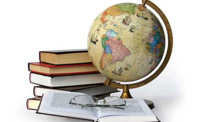 books-and-globe